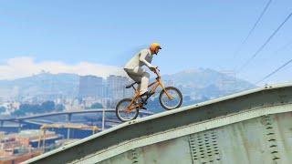 Insanely Epic Bike Parkour (GTA 5 Funny Moments)
