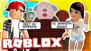 MY GIRLFREND MEETS MY GRANDPA! - ROBLOX ESCAPE GRANDPA HOUSE OBBY!