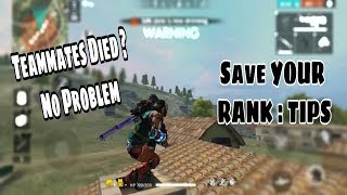 HOW TO SAVE YOUR RANK/SURVIVE TIPS AND TRICKS    FREE FIRE BATTLEGROUNDS # 17    GARENA FREE FIRE