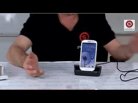 USB Sync Cradle Desktop Dock Charger for Samsung Galaxy S3 i9300-Black