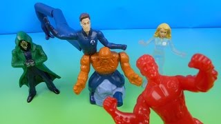2005 THE FANTASTIC 4 SET OF 5 BURGER KING KID'S MEAL MOVIE TOY'S VIDEO REVIEW