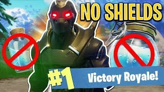 NO SHIELD CHALLENGE!! - FORTNITE BATTLE ROYALE!