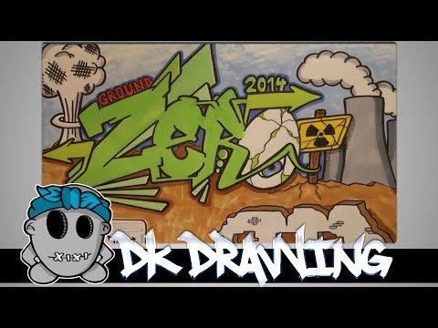 Graffiti Speed Drawing #2 - Letters Ground Zero
