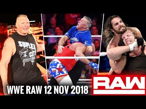 WWE Monday Night Raw 12th November 2018 Highlights ! Raw Vs Smackdown ! Brock Lesnar Returns ! thumbnail
