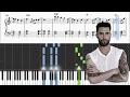 Maroon 5 - Cold - Piano Tutorial + SHEETS