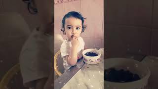 Breakfast baby havi eatting nut #baby #breakfast #cute