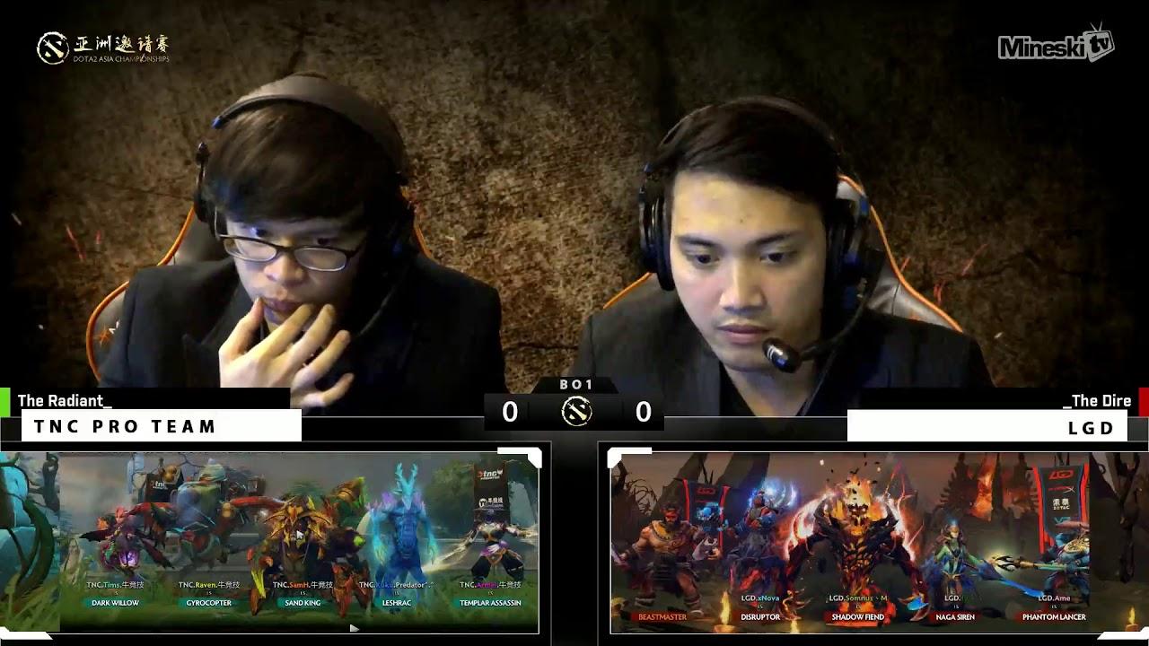 TNC vs LGD | Tie Breaker | Dota 2 Asia Championship