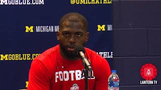 Ohio State QB J.T.  Barrett speaks after his team