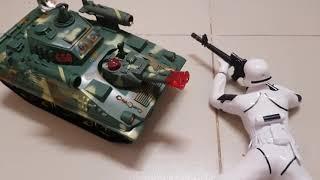 Kids Toy Media |  Đồ Chơi Trẻ Em Lính Stormtrooper & Xe Tăng Chiến Đấu
