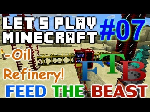 Let's Play Minecraft FTB Ep 7 - Oil Refinery