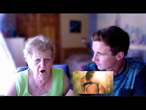 My Grandma Reacts to Anaconda Music Video by Nicki Minaj