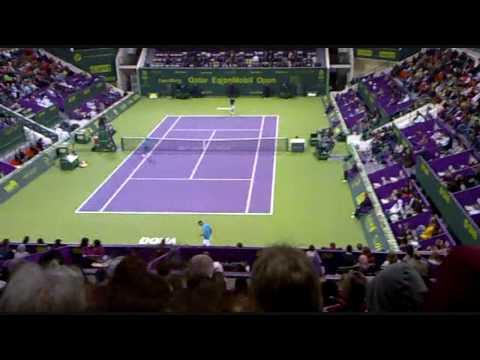Federer VS Gulbis in Qatar ExxonMobil Open 2010
