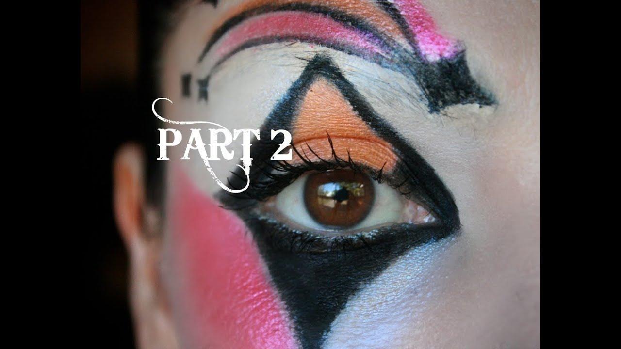 harlequin makeup tutorial part 2 youtube. Black Bedroom Furniture Sets. Home Design Ideas