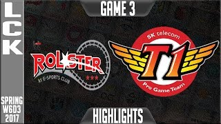 KT Rolster vs SKT Highlights Game 3 - LCK Week 6 Day 3 Spring 2017 - KT vs SKT G3