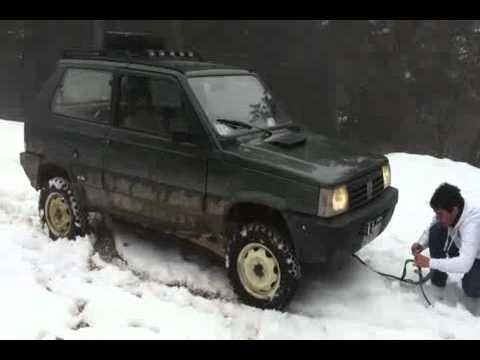 Panda 4x4 sulla neve con scarico da gruppo n youtube for Panda 4x4 extreme