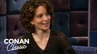 "Tina Fey On ""Late Night With Conan O'Brien"" 02/16/01"