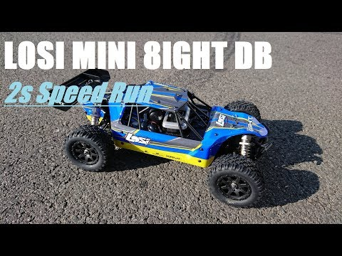 Losi Mini 8ight Desert Buggy Stock Out of the Box(2s Lipo) Speed Run
