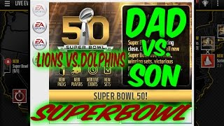 Madden 17 Son VS Dad | Superbowl