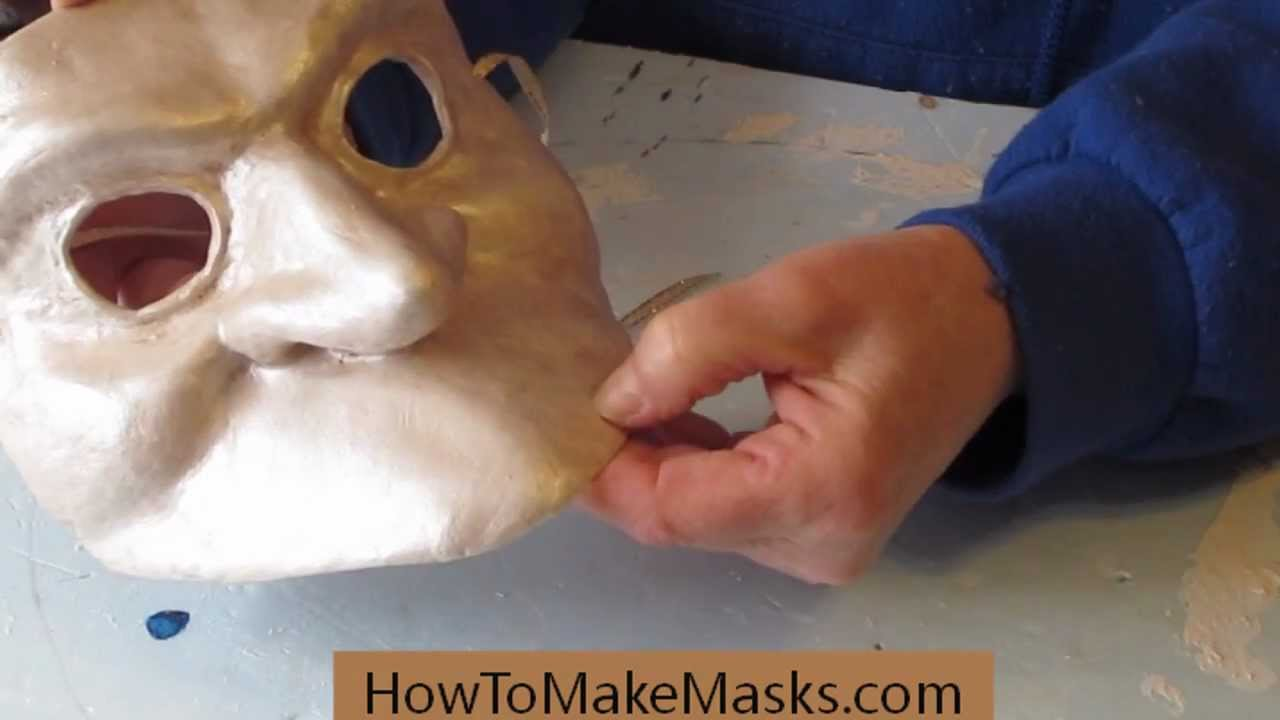 Paper Face Mask Bauta Masks Making Paper