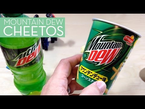 Snacktaku Tries Mountain Dew Cheetos