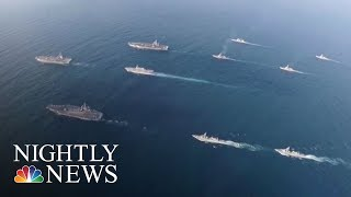 Urgent Search For 3 Missing Naval Officers Over Philippine Sea | NBC Nightly News