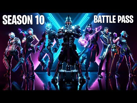 *NEW* SEASON 10 BATTLE PASS SKINS!! (Fortnite Season X New Update)