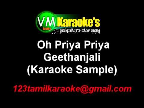 Geethanjali Oh Priya Priya Karaoke Telugu