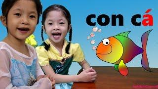 Chị Em Elsa Anna Chơi Thách Đố Đoán Chữ - chị Elsa dạy Anna học chữ cái tiếng Việt 1