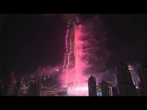 2013 Highlight Video of the Downtown Dubai New Year's Eve Fireworks