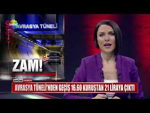 Avrasya Tüneli'nden geçiş 16.60 Kuruştan 21 Liraya çıktı