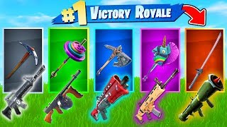 The *RANDOM* PICKAXE Challenge In Fortnite Battle Royale!