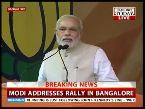 PM Modi shares dias with Siddaramaiah in Karnataka