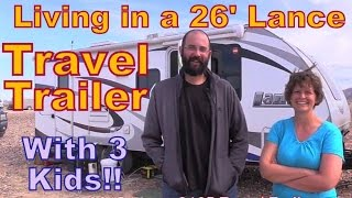 """Family Living in a Lance 26"""" Travel Trailer Tour"""