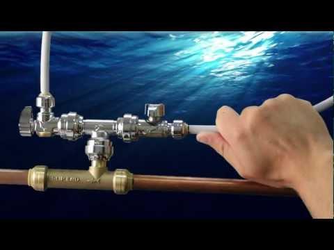 SharkBite Tee Adapter - Installing Water Supply Lines
