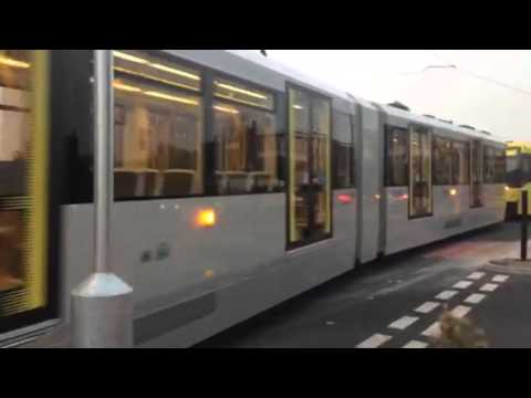 Metrolink trams test Manchester airport line