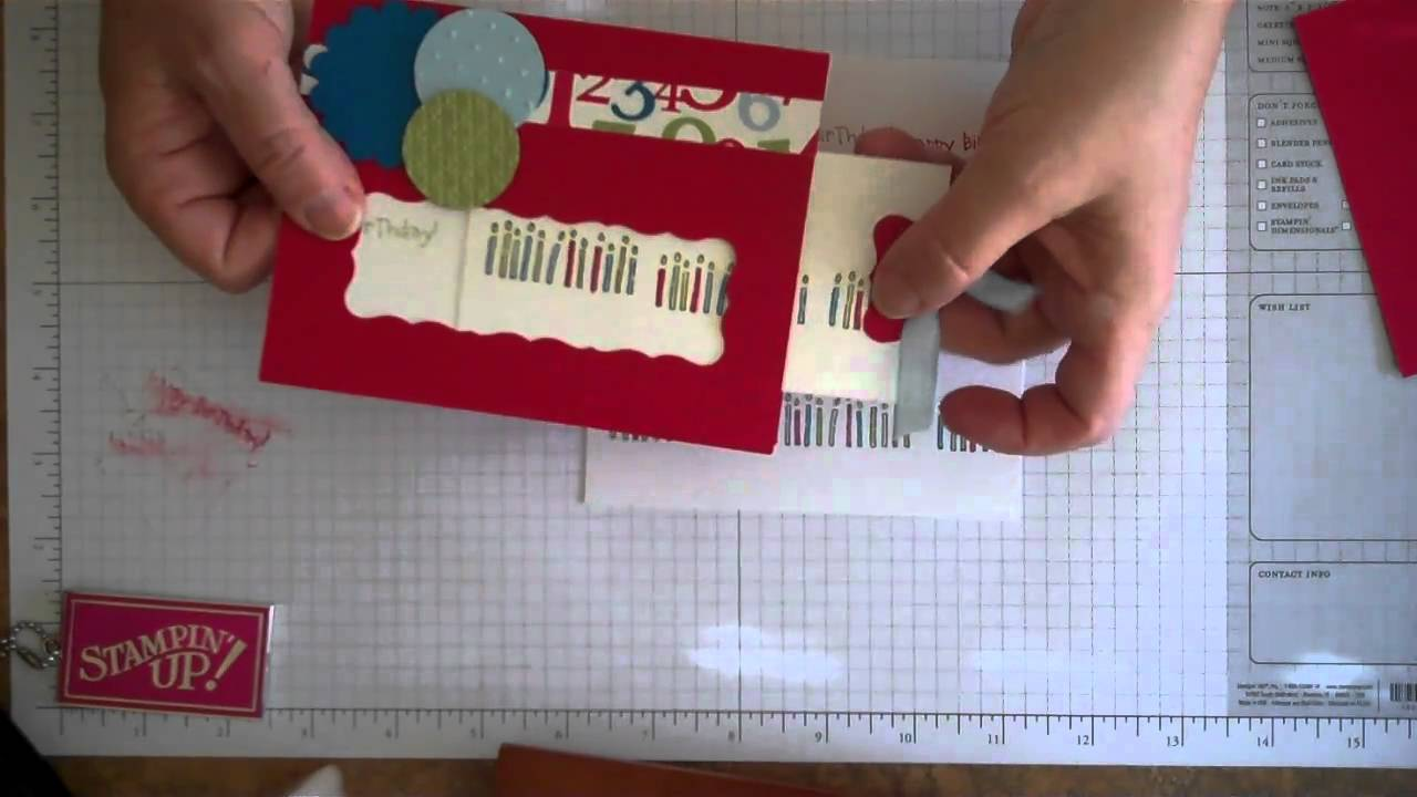 Slide Out Birthday Card With Hidden Message Youtube