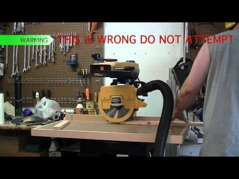 How NOT to rip (And HOW TO RIP) on a Radial Arm Saw!