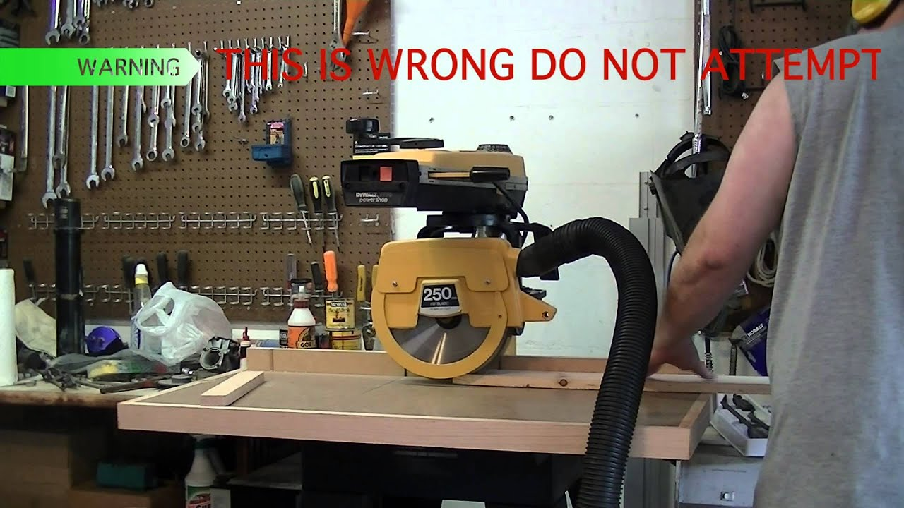 How Not To Rip And How To Rip On A Radial Arm Saw Youtube