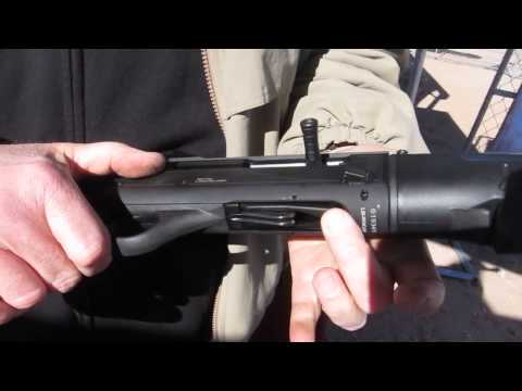 SHOT Show 2014 - Escort Gladius Semi-Auto Home Defense Shotgun - Shooting !!!