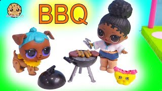 LOL Surprise BBQ ! Backyard Barbecue Party - Cookie Swirl C Toy Video