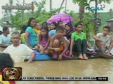 24Oras: Mala-putik ng Baguan River, rumagasa kasunod ng malakas na ulan sa Tarragona, Davao Oriental