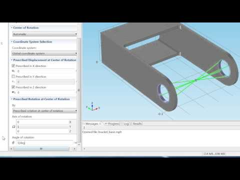 COMSOL's Rigid Connector Feature for Structural Mechanics