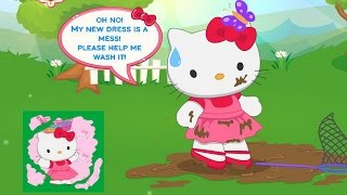 Hello Kitty Fun Laundry Day Game Movie-Hello Kitty Games-Cleaning Game