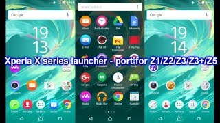 Sony Xperia X series launcher+icons+themes - port for Z1/Z2/Z3/Z3+/Z5... [NO ROOT]