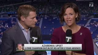 Tennis Channel Live: Victoria Azarenka Upset After Australian Open First Round Exit