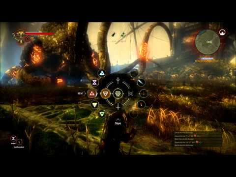 The Witcher 2 - Kayran Boss Fight Hard Walkthrough HD6970 Maxed Out 1600x900