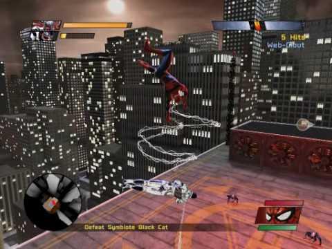 Spider Man Web Of Shadows Symbiote Black Cat Gameplay Pt