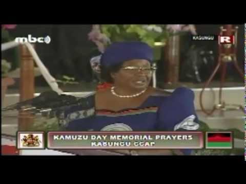 Joyce Banda at Kamuzu Day Memorial Prayers, May 2013