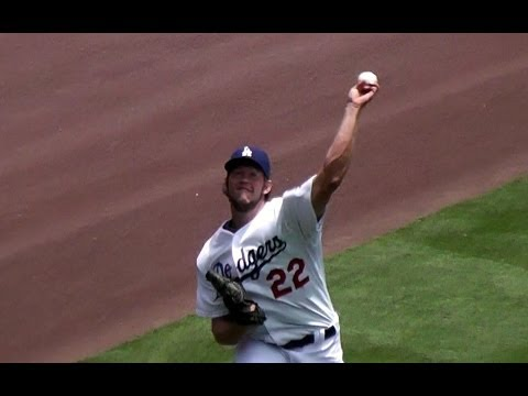 Clayton Kershaw Complete Pregame Warmups Part 2 - Long Toss and Bullpen