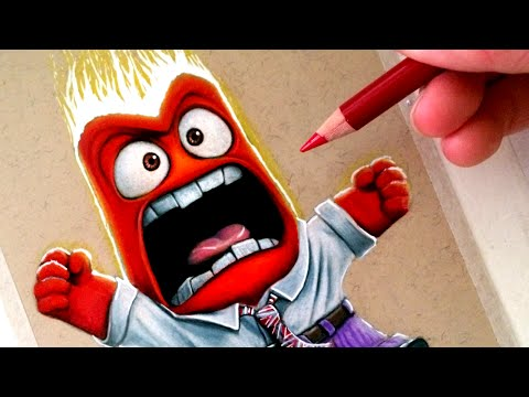 Drawing Anger from Inside Out - Disney Pixar Fan Art